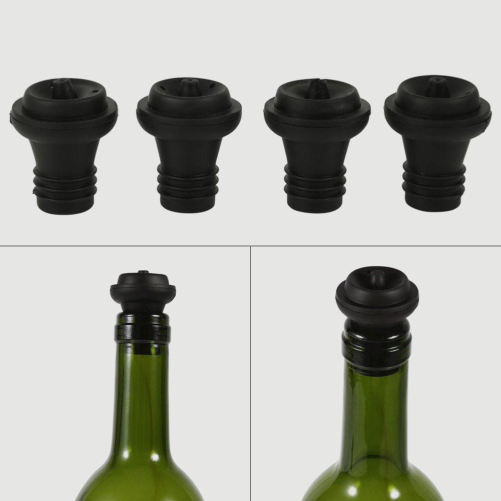 Vapor de Vapor Preservador Stoppers Vino Rojo Tapa De Botella De Champ/ú Cubierta Saver Sellador Tapones De Corcho 4Pcs