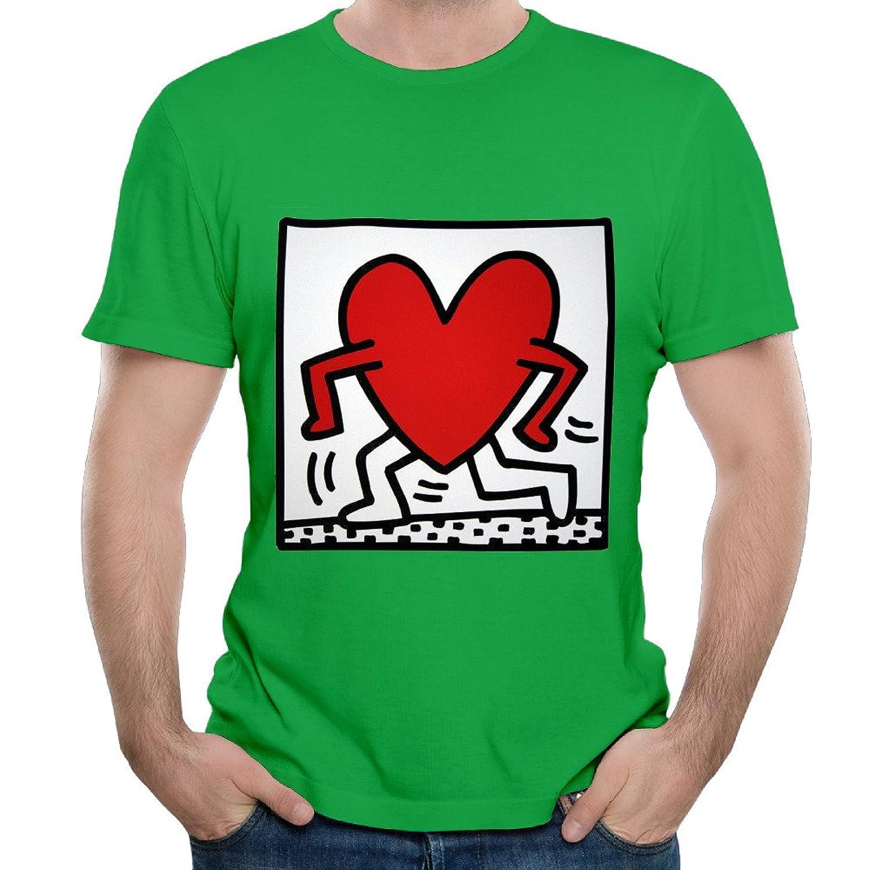 Custom Keith Urban Running Heart Fashion Logo Males KellyGreen T-Shirts