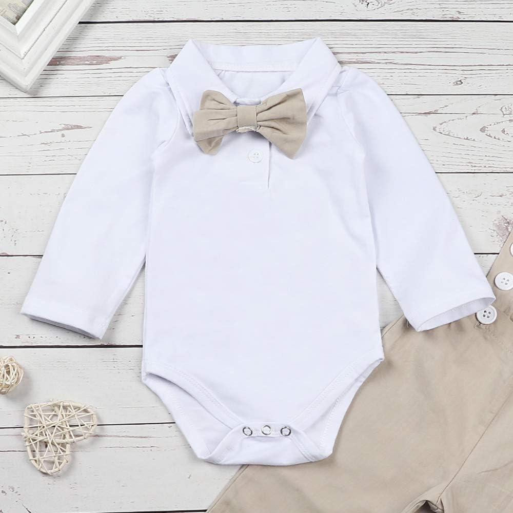 Amazon.com: Conjunto de ropa para bebé y niño, de manga ...