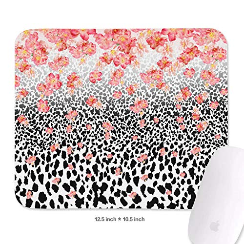 Tropical Floral Marine Leopard Mouse Pads Comfortable Mouse Pad Non-Slip Rubber Base Mousepad
