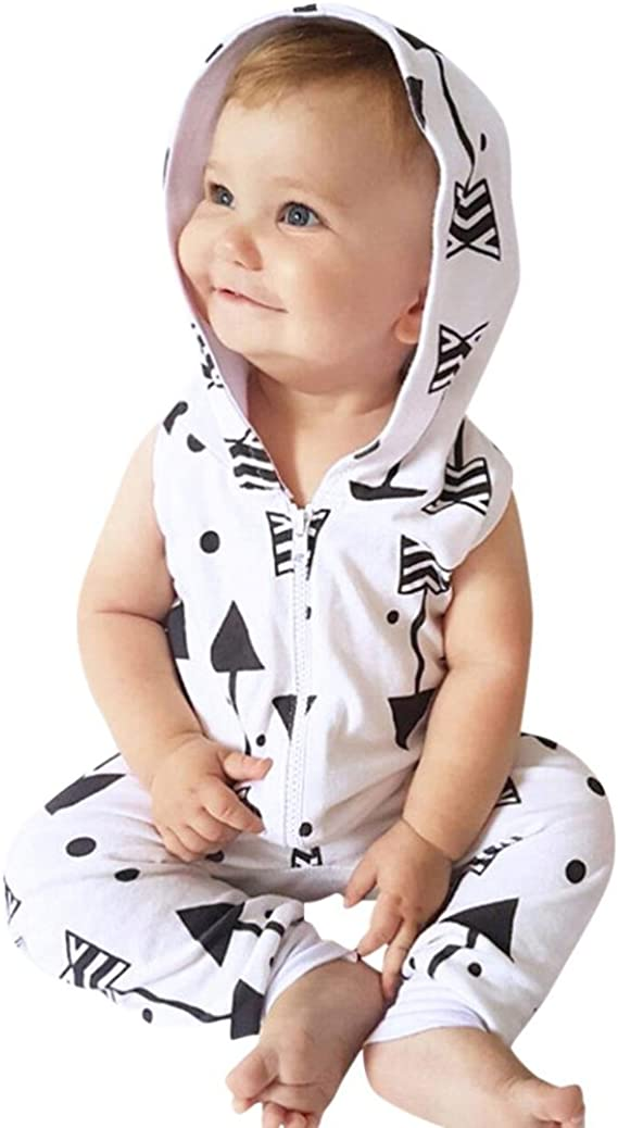DIGOOD Toddler Baby Girls Boys Arrows Sleeveless Rompers,for 0-24 Months,Children Playsuit Jumpsuit Clothes Set