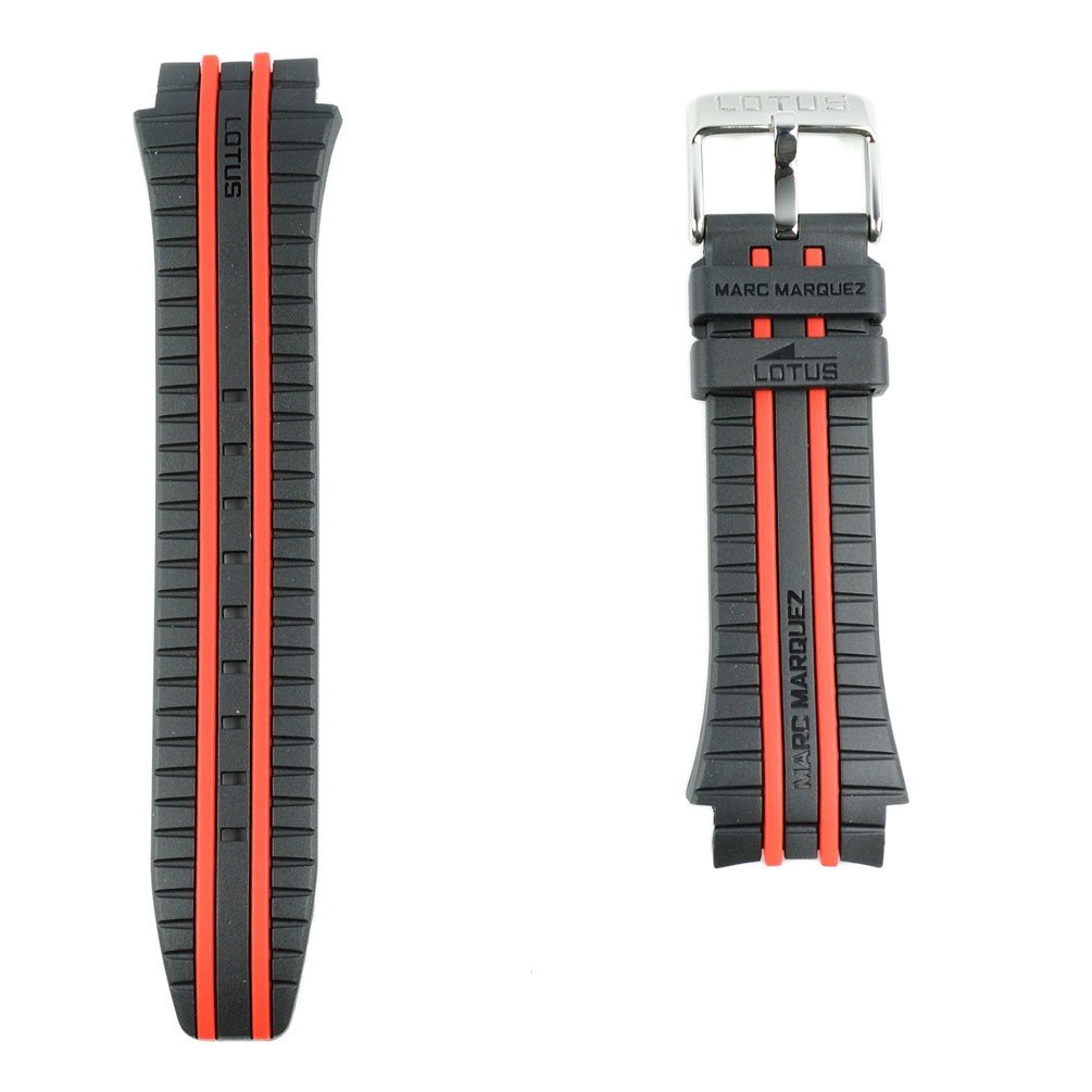 Amazon.com: Black Rubber Strap Two red Stripes Lotus Marc Marquez Models 18259: Watches