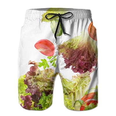A Healthy Diet Vegetables and FruitsHandsome Fashion Summer Cool Shorts Swimming Trunks Beachwear Beach Shorts