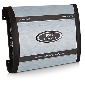 Pyle PLAM1600 4.0 Coche Alámbrico Negro, Azul - Amplificador de audio (4.0 canales,