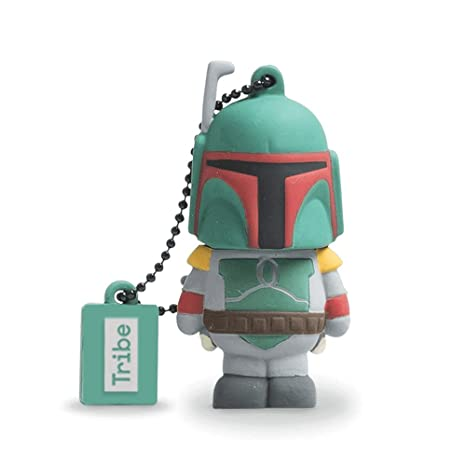 HAKKU Hair Iron Gray Tribe FET USB Flash Memory Drive Star Wars Boba Fett FD007403, Medium, Clear