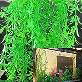 Honory99 40-100CM Simulation Fake Plants Aquarium Grass Landscaping Ornament Decorations