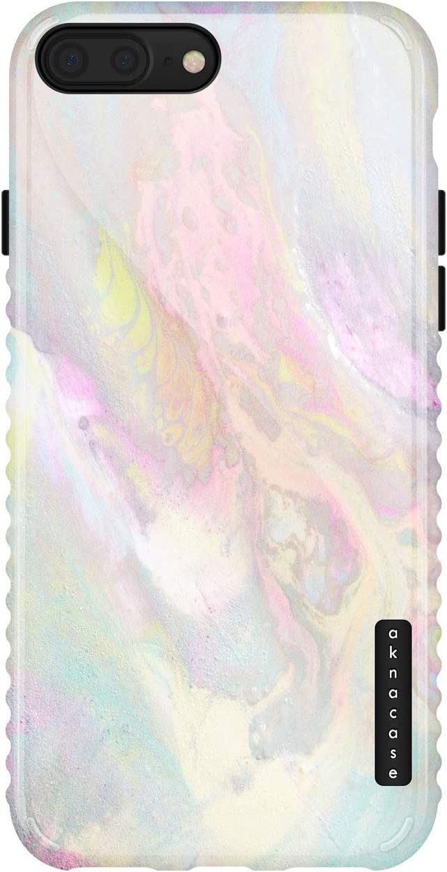 iPhone 8 Plus/iPhone 7 Plus case Marble, Akna GripTight Series Flexible Silicon Cover for Both iPhone 7 Plus & 8 Plus (839-U.S)