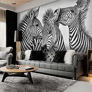 Huang Ya Hui Wandbild Nostalgic Schwarz Und Weiß Zebra Wohnzimmer TV Sofa  Schlafzimmer Hintergrund Wand U2013