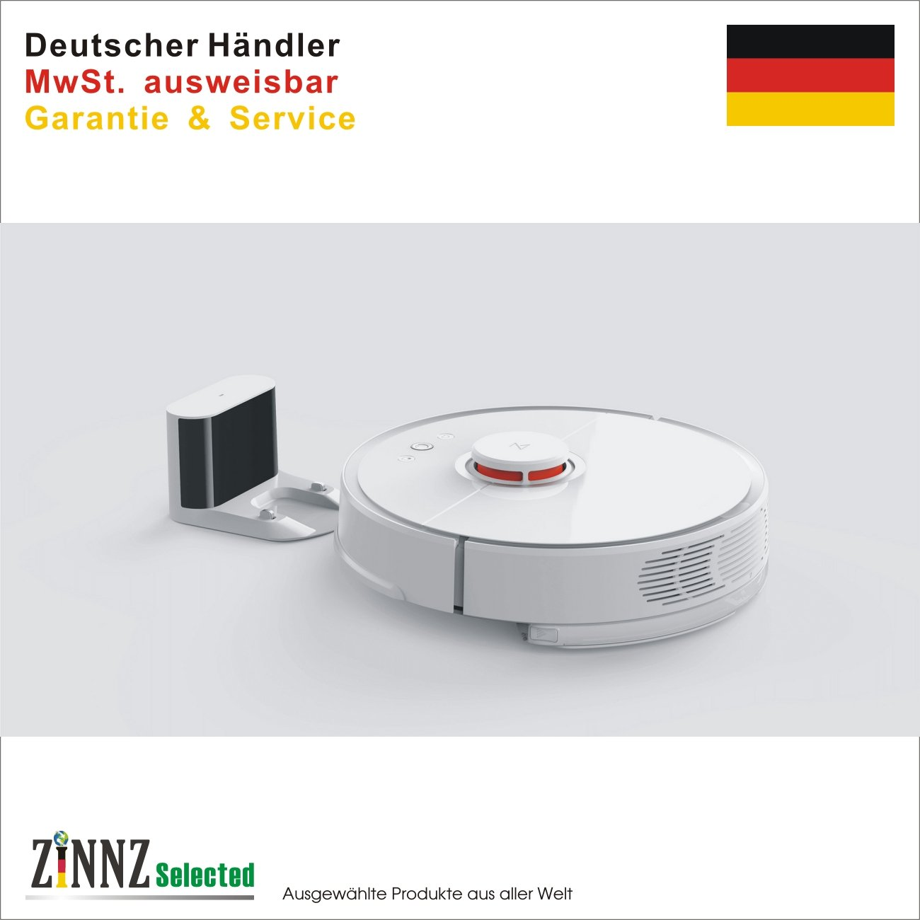 Xiaomi Mi Robot Robo Rock Vacuum Cleaner 2ª generación EU Blanco Versión Global CE de Alemania # zinnz Selected #: Amazon.es: Electrónica