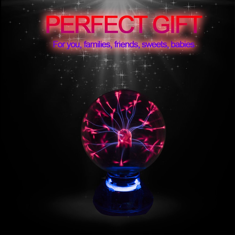 Car Music Sound Control LED USB Plasma Ball Electrostatic Lamp Decoration Atmosphere DJ Lights Party Magic Lighting