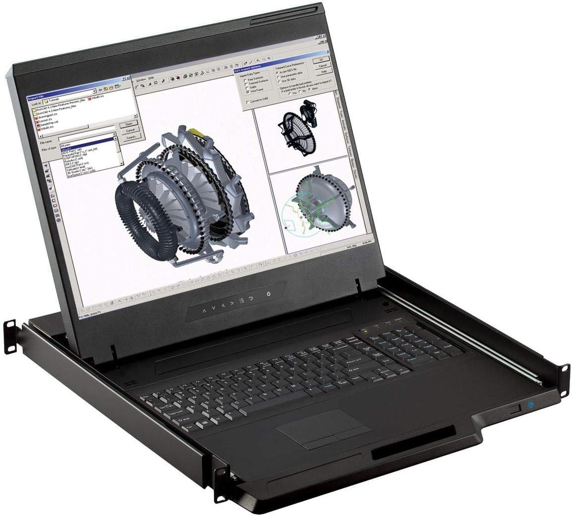 "Rackmount Console - 1U 19"" Rackmount Monitor, 1440 X 900 Resolution, VGA & DVI-D Input (Crystal Image Tech Part#RM-111-19WH) (VGA & DVI Input)"