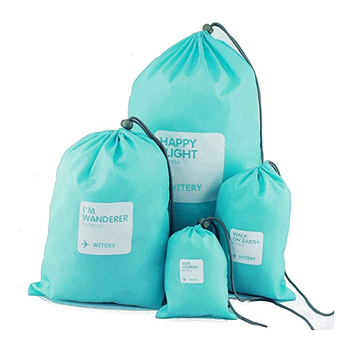Amazon.com: Conjunto de 4pcs bolsas de cordón, witery ...