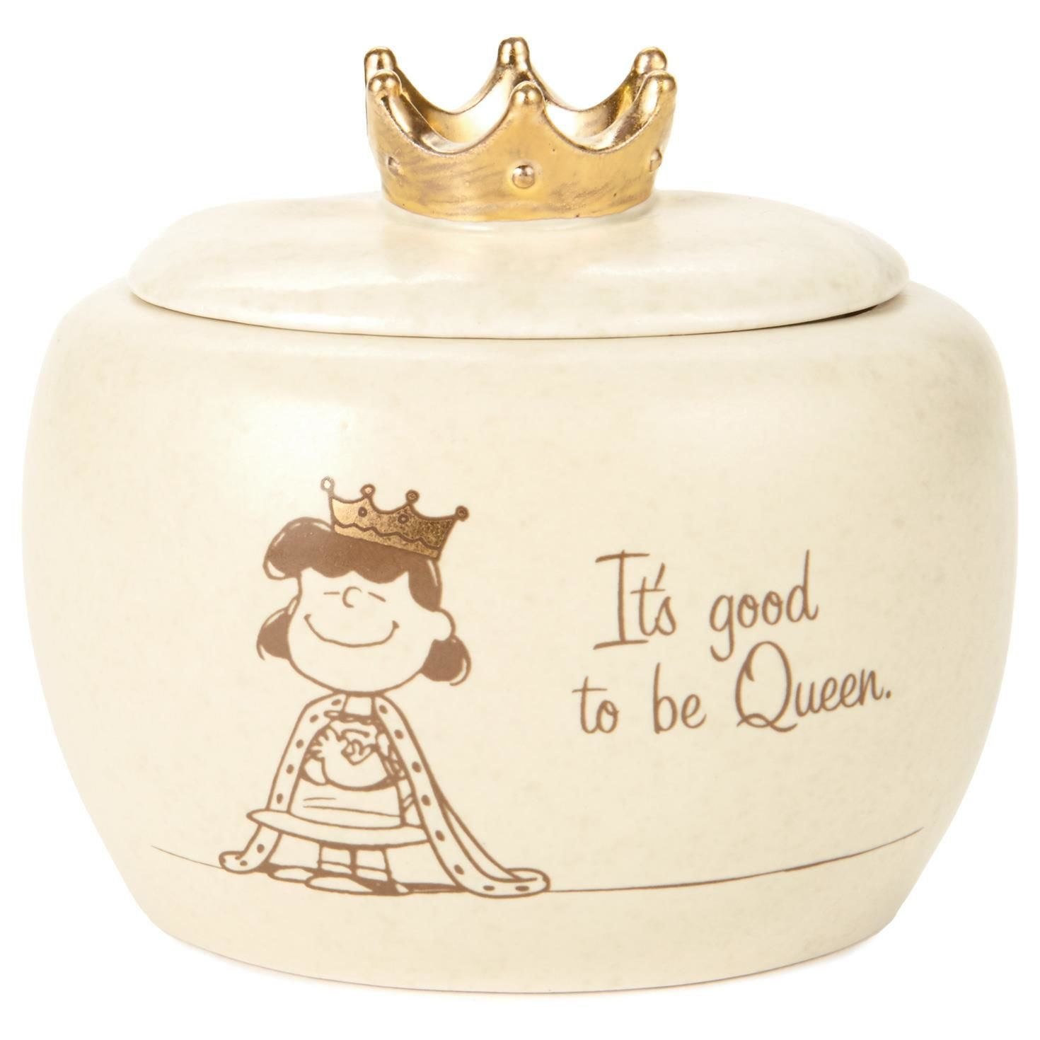 Hallmark Peanuts Lucy Queen Treasure Box, 4