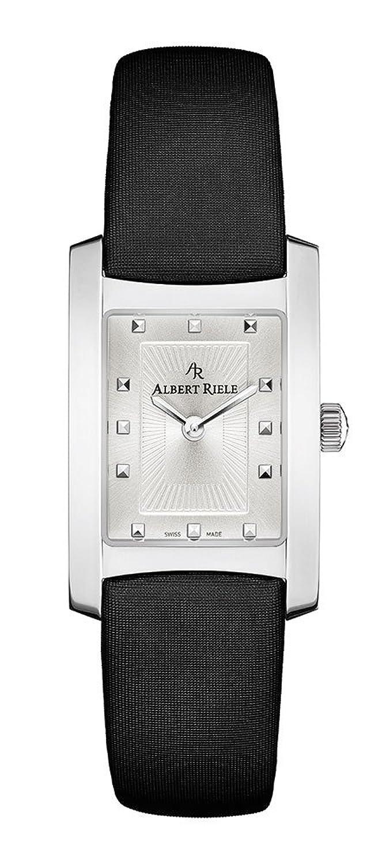 Albert Riele Damen Armbanduhr GALA Analog Quarz Lederarmband silberfarben 030LQ08-SS44I-TB