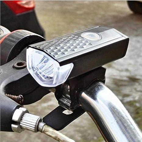 Dixinla Luz de Bicicleta Carga USB resalte luz Enciende Luces ...