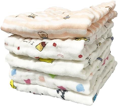 JT-Amigo Pack de 5 Toalla de Gasa para Bebé, 30*30 cm, Set 1: Amazon.es: Bebé