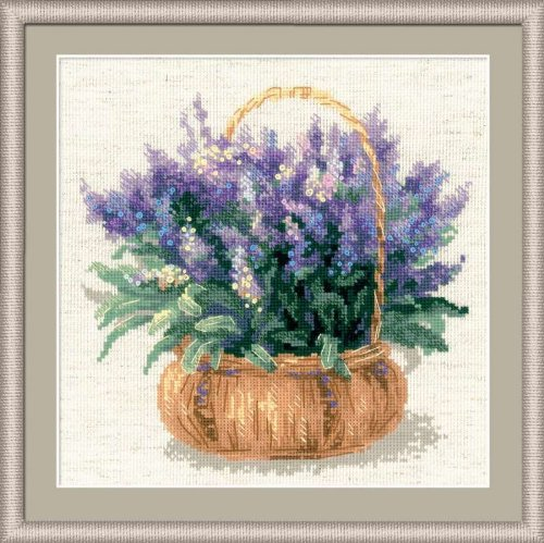 "RIOLIS French Lavender Counted Cross Stitch Kit-9.75""X9.75"""