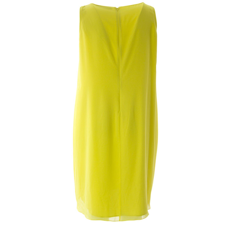 106926059b3 Marina Rinaldi Women s Dolmen Pleated Belted Dress Yellow at Amazon Women s  Clothing store