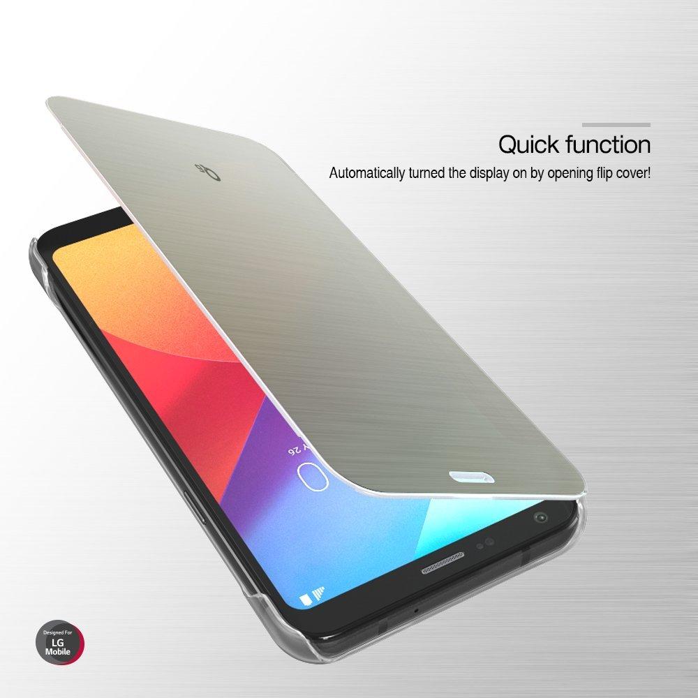 VOIA LG Q6/Q6+/Q6a Flip Premium Quick Cover case (Rose Gold)