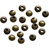 TOOGOO(R) 500-Piece Tiny Metal Spacer Round Beads for Jewelry Making, 3.2mm, Antique Bronze
