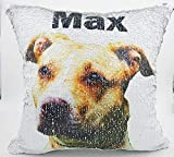 Personalized Pet Picture Pillow, Reversible Sequin Custom Photo Pillow Deal (Small Image)
