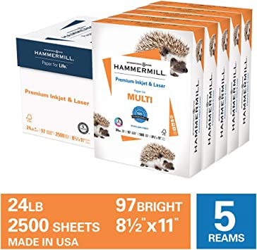 White 500 sheets ***NEW*** 24lb 96-Bright Hammermill InkJet Paper Letter