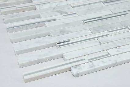 Bianco Carrara Slate Jade Italy Gray; Marble Mosaic Tile; Grey and White & Bianco Carrara Slate Jade Italy Gray; Marble Mosaic Tile; Grey and ...