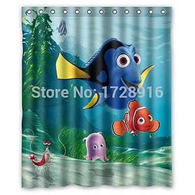 Amazon.com: Carry Me Go Marlin Dory Finding Nemo Custom Shower ...