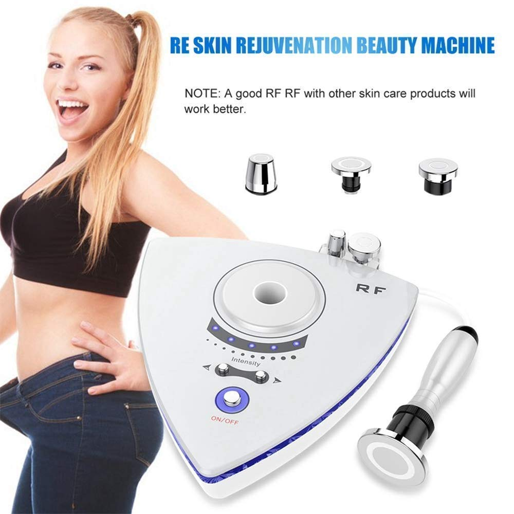 WanZhuanK RF Radio Frequency Facial Machine,Eye Bags Removal and Body Slimming Removal Slim Weight Loss Machine, Tightening Anti Aging Skin Care White,Usplug