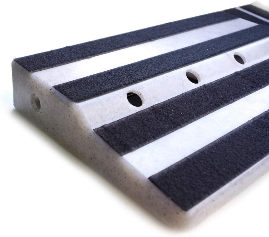 SDENSHI Guitar Pedal Board Large,19.68 x 9.84 x 0.79 ABS Effects Pedal Board Pedalboard for Guitar
