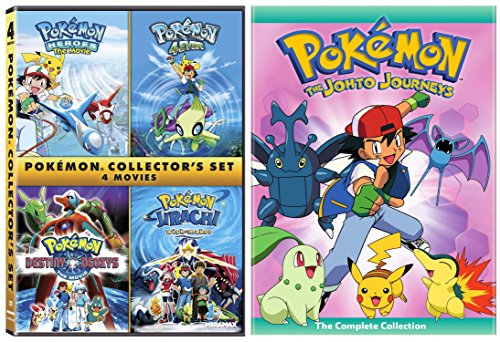 Pokemon: The Johto Journeys - The Complete Collection + Pokémon Collectors 4-Film Set