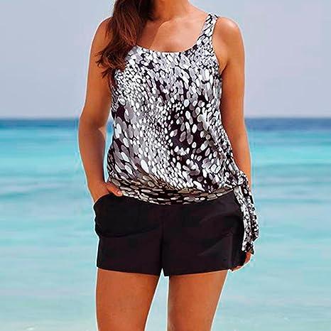 Tankini mujer premama, ❤ Amlaiworld Conjunto Tankini de mujer talla grande traje de baño de dos piezas Con Pantalones cortos de chico bikini brasileño ...