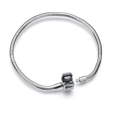 Amazon.com: Daisy Jewelry - Pulsera de acero inoxidable para ...