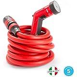 YOYO 30mt - il tubo estensibile, leggero e robusto con pistola, connettori con attacco rapido e aquastop, per uso in giardino, in casa, in viaggio. YOYO, quello rosso prodotto in Italia.