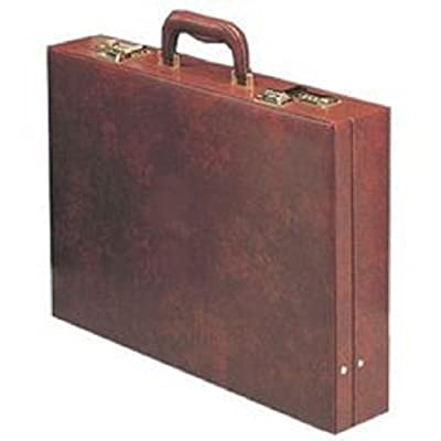Burgundy Attorney Briefcase, Quality Locking Multi Compartment Professionals
