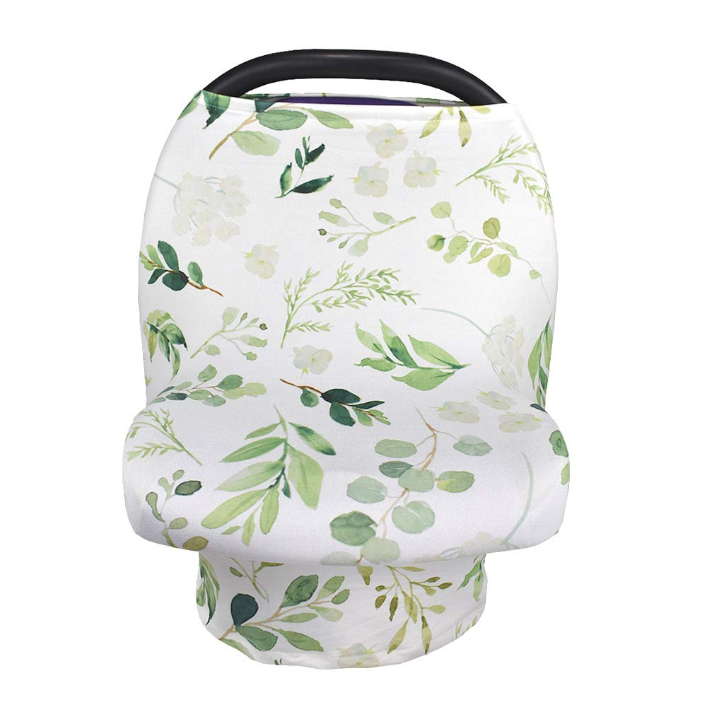 Multifunction Sun Shade Canopy Breastfeeding Nursing Cover Baby Carseat Canopy Green Leaf Infant Stroller Covers