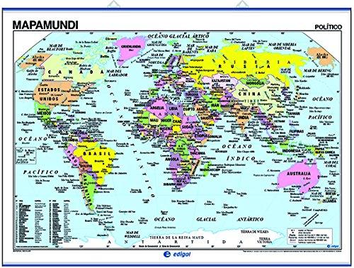 Worksheet. Mapamundi fsico  poltico Edigol Ediciones 9788485406562