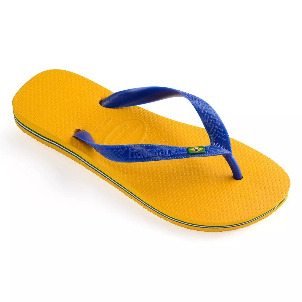 Havaianas Unisex Brasil Rubber Flip-Flops Banana Yellow Size EU 41/42 - Bra 39/40 - US M7/8