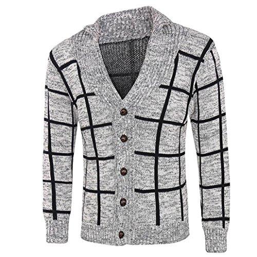 shirt Veste Gris Pull Sweat Manteau Cardigan Noël a D'hiver Hommes Tricots De xzw0AAT