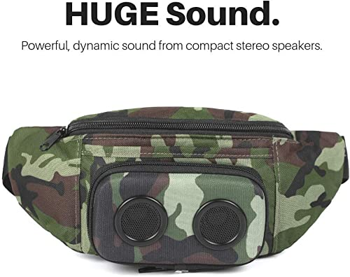 The 1 Fannypack with Speakers. Bluetooth Fanny Pack for Parties Festivals Raves Beach Boats. Rechargeable, Works with iPhone Android. 1 Bachelorette Party Gift Camo, 2019 Edition