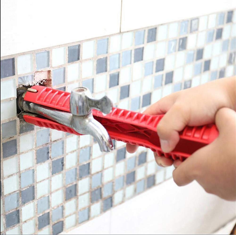 AGOOBO Faucet And Sink Installer Tool, Multifunctional Faucet Wrench Tool for Toilet Bowl//Sink//Bathroom//Kitchen Plumbing and More 8-In-1