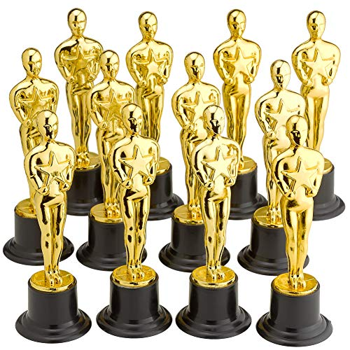Plastic Trophy - 12 Pack 6 Inch Figure Trophy, Competitions, Awards, Ceremonies, Contests, Parties, Party Favors, Props, Rewards, Prizes, Games, School, Field Day, Boys and Girls - Kidsco