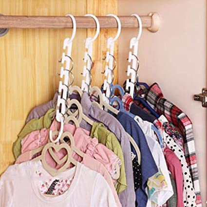 5pcs Wonder Closet Organizer Space Saver Magic Hanger Clothing Rack Clothes Hook