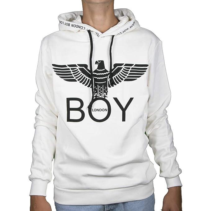 economico per lo sconto 2862c 59e0d Boy London Felpa con Cappuccio - Bianco, M: Amazon.it ...