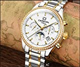 Mens-25-Jewels-Automatic-Gold-Watches-Mineral-Mirror-Moon-Phase-Calendar-24-Hours-Luminous-Watch-White
