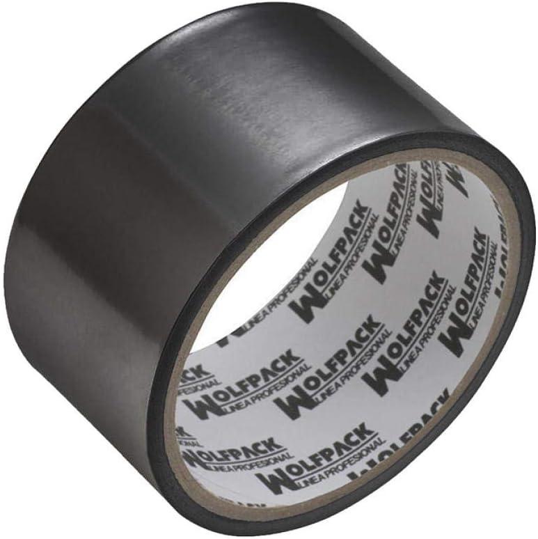 WOLFPACK LINEA PROFESIONAL 14060125 Cinta Adhesiva Aluminio Negra 48 mm. x 10 m. 66 micras