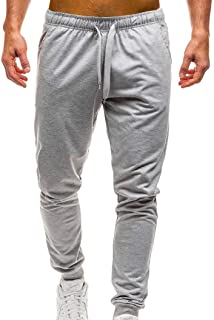 SUMTTER Uomini Colore Puro Tasca Tuta da Lavoro Casuale Tasca Sport Lavoro Casuale Pantaloni