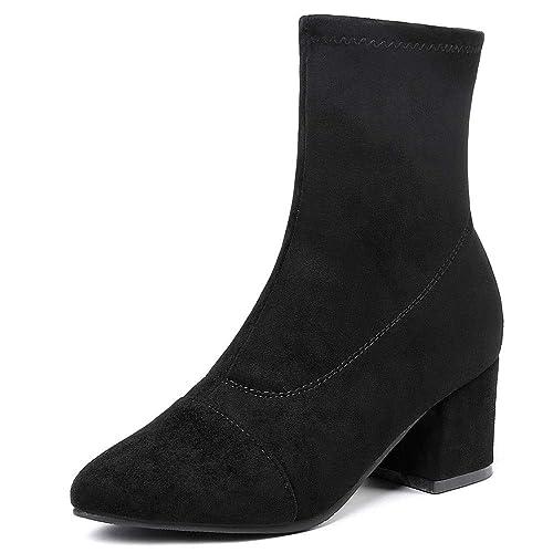 Zapatos Botas 2018 Calcetines Botas de Moda, Tacón Ancho, Botines Elásticos, Botas Martin Calentadas para Mujeres Chicas Adultos: Amazon.es: Zapatos y ...