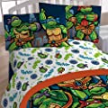 Teenage Mutant Ninja Turtles 4pc Full Size Bed Sheet Set - CityScape