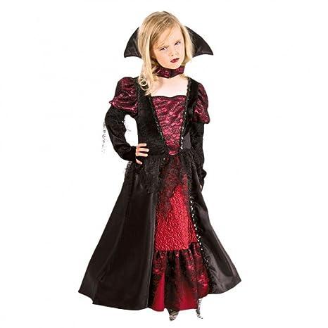 Vestido de Vampiro para Disfraz de niña Rojo/Negro Collar de ...
